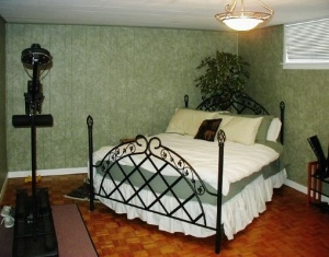 Basement bedroom