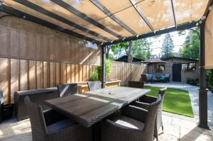 301 evelyn avenue patio with sunshade 2